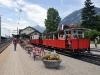 Vlak připravený k odjezdu na nádraží v Jenbachu