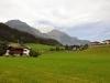 Tyrolské Alpy z okénka vlaku