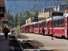 Do stanice přijel od severu vlak směřující do Itálie