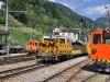 Stroje připravené na úpravu tratě