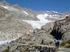Ledovec, ze kterého vytéká řeka Rhona
