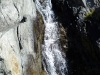Toto není ledovec, ani řeka Rhona, jen maličký vodopád u parkoviště