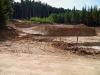 Zemní práce na výstavbě nových lyžařských tratí