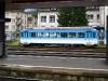 Modře natřené vlaky jezdí po ozubnicové tratí z Arth_Goldau k vrcholu Rigi
