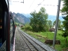 V horní části trati vitznauské linii vedou dvě koleje vedle sebe