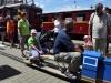 Zvláštní vlak na první koleji odjíždí