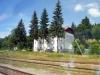 Kořenov z okénka vlaku