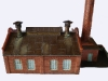 Střecha v okolí ventilačních komínů z měděného plechu je patinována kovovou substancí NOCH (měděnka)