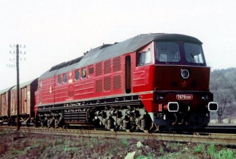 Stroj T679.2001 v celé své kráse na trati u Skalice nad Svitavou 23.3.1974. Foto Ing. Ondřej Řepka
