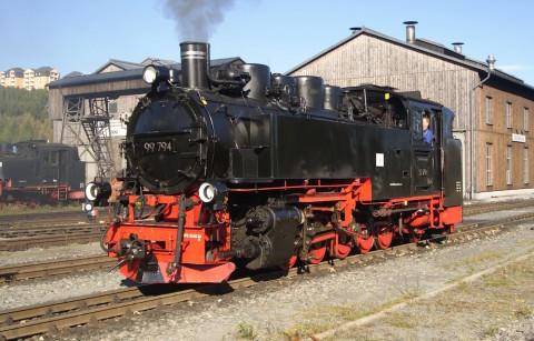 99 794 im Bahnhof Oberwiesenthal
