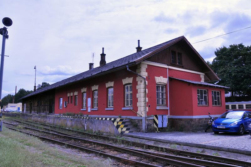 Skladiště na nádraží v Jindřichově Hradci (kéž by takové uměl vyrobit Fahller)