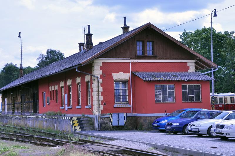 Skladiště na nádraží v Jindřichově Hradci