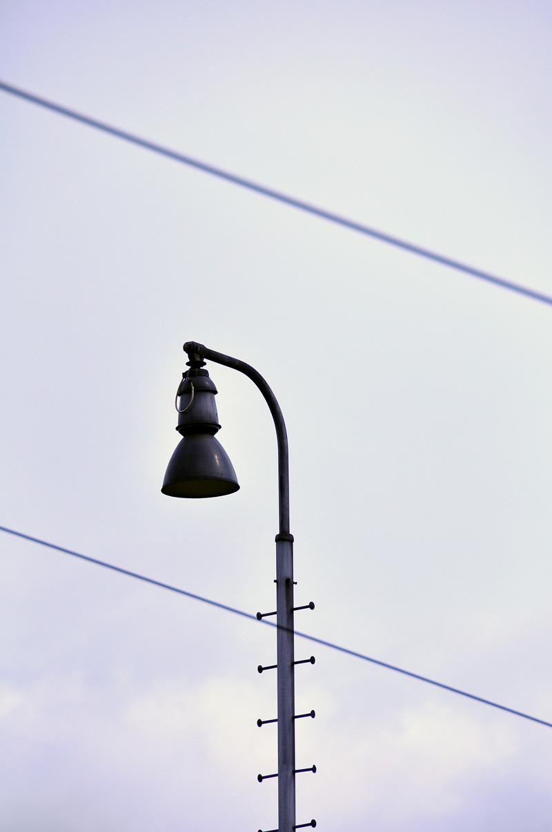Stínítko nádražní lampy