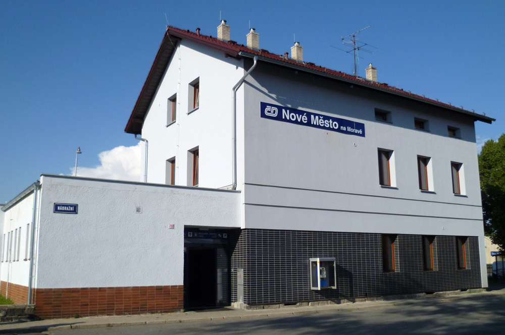 Rekonstruované nádraží v Novém Městě na Moravě