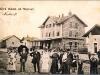Nádražní budova při pohledu z kolejí - ale před více jak 100 lety