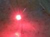 Svítící červená část LED SND Bi-color
