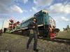 Bajkonur - ostře sledovaný vlak v čele s lokomotivou TEM2