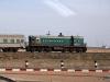Bajkonur - nedatovaný snímek soupravy v čele s lokomotivou TEM2
